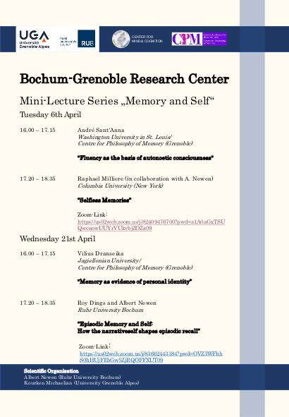 Poster Bochum-Grenoble Mini-Series